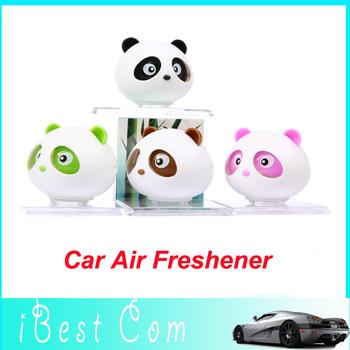 4pcs Drop shipping New Panda refreshing fragrance car Air Freshener Perfume Diffuser Block For Car/Motor/Home perfume wholesale
