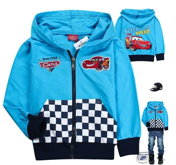 free 6pcslot baby boy girl fashion cartoon car hoodies kids cotton terry zipper coat jackets outwears