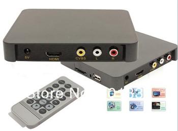Autoplay 1080P Full HD Advertising Player,hdmi digital signage media player,SD/MMC/USB Host HD007 Free shipping!