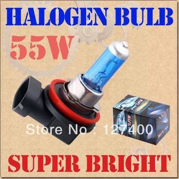 2pcs H11 Super Bright White Fog Halogen Bulb Hight Power 55W Car Headlight Lamp