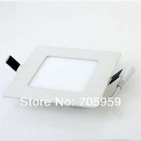 6W 30LEDS SMD2835 390LM  AC85-265V Square led panel lights Embeded ceiling light Warm white, white