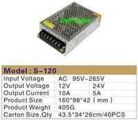 120w LED swich power DC12 DC24V