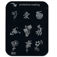 Free Shipping   10 pieces/lot     Nail Art    Stamp Nail Art Image Plate   B02