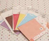 Korea stationery multicolour stamps cartoon mini letter pad 4 letter pad 2 envelope nj-011-16