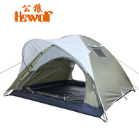 Hewolf outdoor tent double layer two door camping tent camping tent 1434