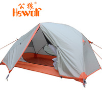 Hewolf tent outdoor camping tent field double layer aluminum rod 1599