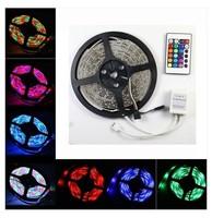 RGB LED Strip 5M 300Led 3528 SMD 60 led/m 24 Key IR Remote Controller Flexible Light Led Tape Home Decoration Lamps DC 12V