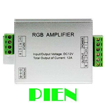 Data Repeater RGB Signal Amplifier led controller for 3528 5050 LED Strip Light DC 5V 12V 24V CE&ROHS by DHL 50pcs(China (Mainland))