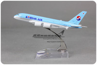 Taehan korean air a380 alloy metal model 16cm