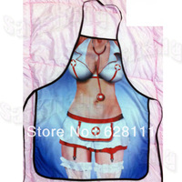 New COOKING APRON Novelty Funny SEXY women  DINNER PARTY white nurse outfit  women  free shipping