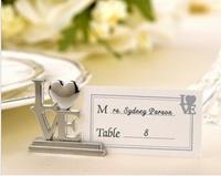 Wedding Gift Wedding Seats Clip Creative LOVE Name Card Holder 10pcs/lot Free Shipping