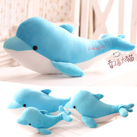 Pernycess dolphins lovely sea world 1# 30cm plush doll toy doll pillow cushion birthday gifts free shipping