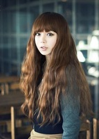 Long curly hair wig hot corn wig scroll fluffy fake hair jiafa wig long wig female