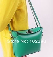 Free shipping 2013 PU women's handbag double layer zipper shoulder bag mini bag messenger bag Fahion