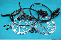 2013 3color Avid ELIXIR 1 E1 bicycle hydraulic disc brake set cycling brake bike brake system with 2pcs HS1 rotors Free shipping