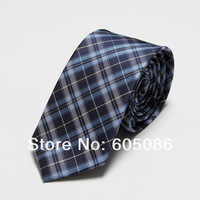 2014 Microfiber men ties mens tie plaid neckties slim