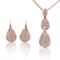 18K Gold Plated Nickel Free Wedding Necklace Earring Jewerly Set Latest Fashion Jewellery Hot Wholesale and Dropshipping S198