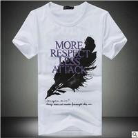 (Free shipping)Men's short sleeve T-shirt men's cultivate one's morality men half sleeve T-shirt men's short sleeve summer wear