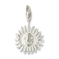 Free shipping!Fashion silver pendant-Sun Charm with smile face