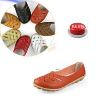 2013 massage bottom casual shoes cutout women's shoes flat heel flat leather sandals mother shoes single  nurse shoes