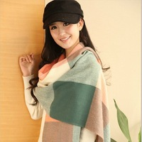 Женский шарф 2013 new foreign trade big shawl Voile geometric three-color striped fringed scarves sunscreen shawl