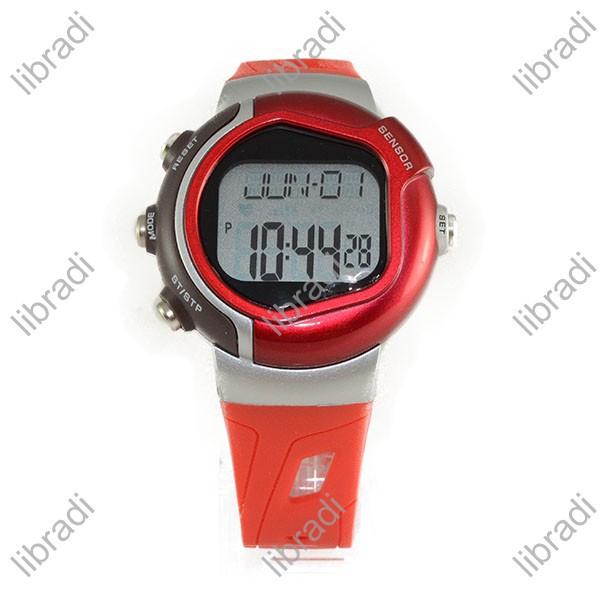 1pcs Heart Rate Monitor Sports Wrist Watch Stopwatch Alarm Clock Calories CC-02 Red / Blue / Black / Orange / Silver(China (Mainland))
