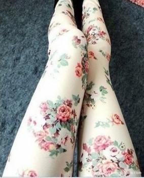EAST KNITTING LG-004 Free shipping 2014 The Korean women Denim Leggings roses wholesale Slim was thin fashion leggings