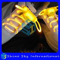 Free shipping new design super bright led flashing shoelace promotional gift light up shoe lace
