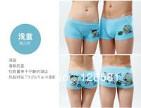 100% cotton cartoon lovers sexy panties fashion male women's mid waist underwear shorts
