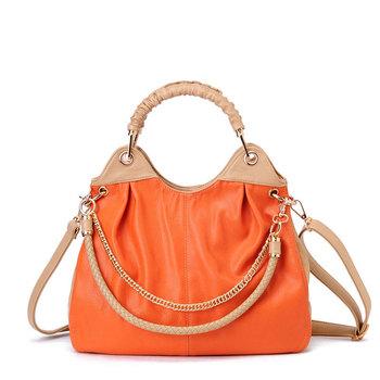 Smarten 2013 fashion candy color large capacity pleated chain accessories handbag messenger bag women's handbag orange