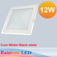 free shipping Crystal panel lights LED Panel Ceiling Light  12W White /Warm White5730SMD AC85V~265V 2000lm