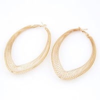Basketball Wives Hoop Earrings Gold Silver Metal Exaggerated Big Cirlcle Dangle Earrings for Women