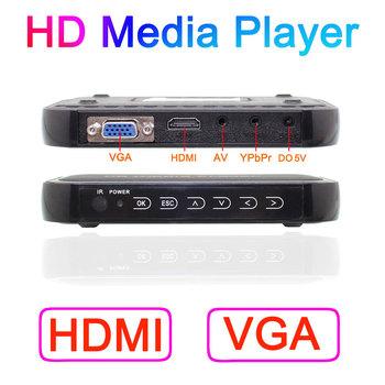Free Shipping!3D Full Hd 1080P Media Player,VGA,HDMI,AV output RMVB RM H.264 MKV AVI VOB Hdd player with Remote control