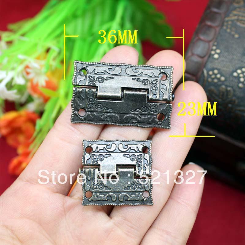 1.5-inch alloy hinge antique wooden stamp hinge 36 * 23MM Box Hinge(China (Mainland))