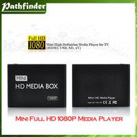 Model No: MP013 Mini 1080P HD Media Player with HDMI/AV/USB/SD/MMC - Black