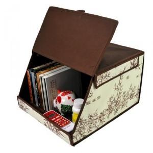 free shipping wholesale new design Simple but elegant series ! book storage box desktop glove box miscellaneously dual-order box(China (Mainland))