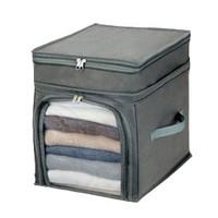 free shipping wholesale hot sale news Visual bamboo charcoal storage box visual sweater clothing finishing box windows zipper 2