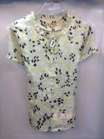free shipping Silk shirt mulberry silk shirt summer short-sleeve flower women's top plus size available
