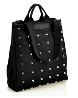 2013 big bags women's handbag fashion rivet one shoulder handbag casual women's bag