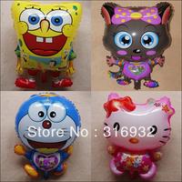 M3 Free shipping, high quality 18inch Hello kitty&Spongebob&Dora cartoon figure style foil balloon, 10pcs/lot