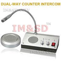 110V / 220V English Version Window Intercom Kit Dual-way Intercom System For Counter Door Phone Intercom KIT