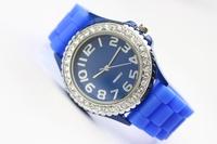 50 pcs/lot GENEVA watch rhinestone watch,high quality diamond round ladies watch Free shipping via DHL/UPS