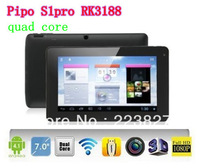 Free shipping Pipo S1pro 7inch RK3188 quad core 1.6GHz android 4.2.2 OS 1G/8G Dual camera Wifi HDMI OTG 1024x600pixl  tablet pc