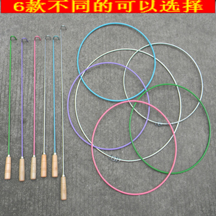 Nostalgic traditional toys solid ring roller-applied quoined child sports fitness equipment
