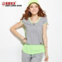 2013 colorant match metal sports female set fashionable casual sportswear