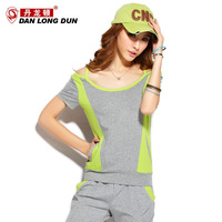 Summer fashion color block Women casual fashion sports set