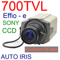 CCTV SONY CCD COLOR GUN CAMERA 3.5-8mm CS lens 700TVL OSD Menu Controller BNC-V