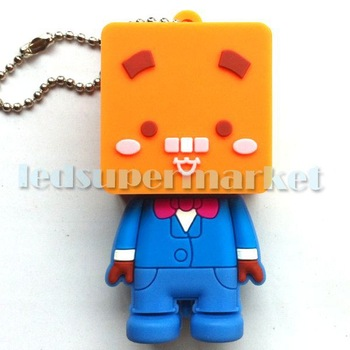 5pcs/set  Square Head Aberdeen Appearance Soft  USB Memory Stick Drive 4G/8G/16G     Free Shipping