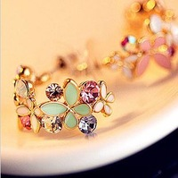 Min.order is $10(mix order )Free Shipping!Accessories Butterfly Flower Earrings Elegant Garishness Earrings  /Quality  Earring