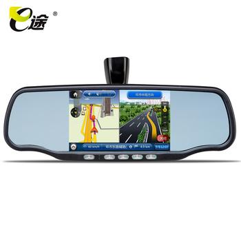 Huafeng e v50 car gps navigator driving recorder bluetooth velocimetry one piece machine rear view mirror
